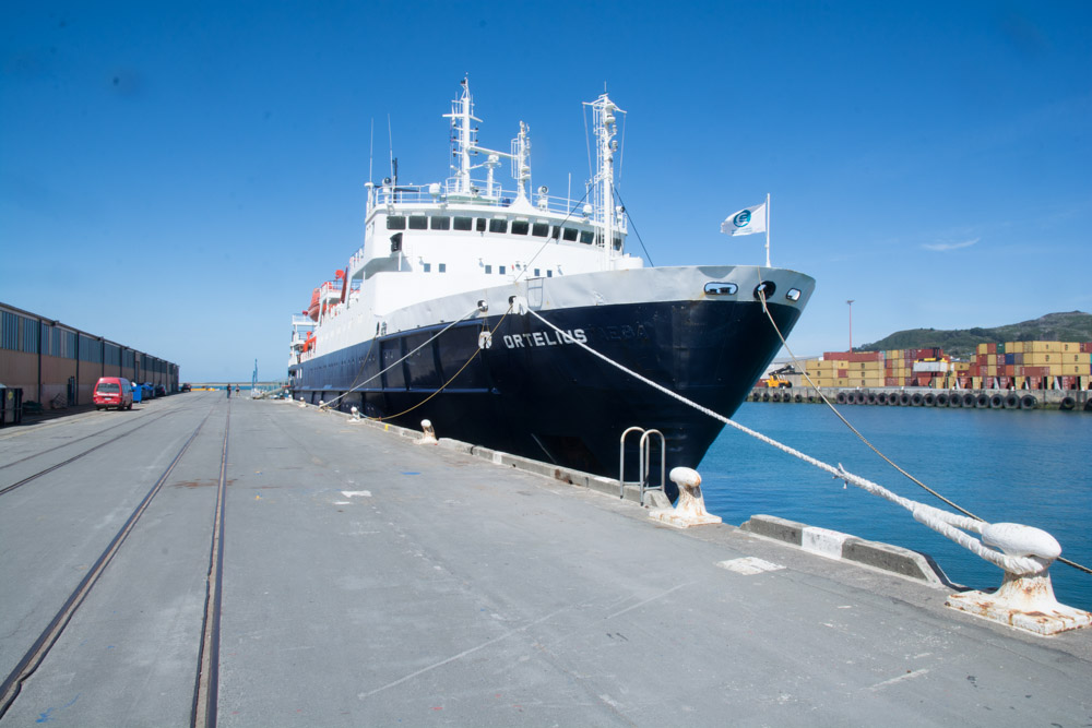 The Oretlius at our starting point in Bluff New Zealand