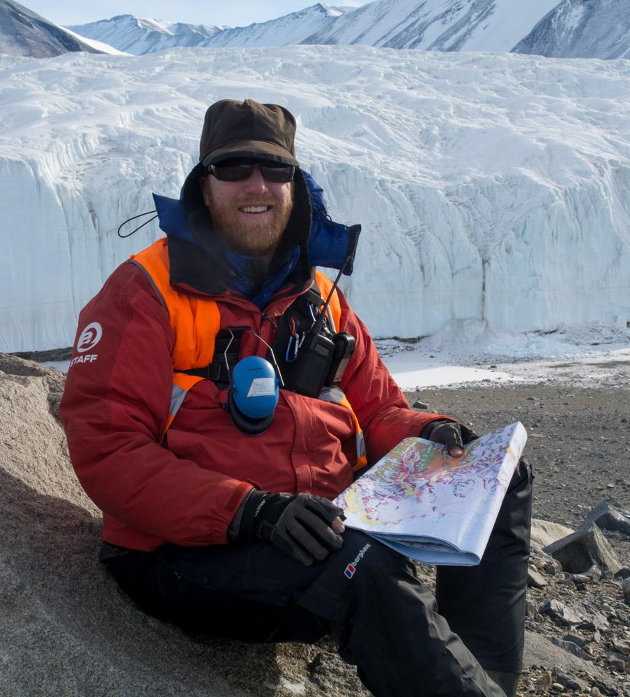 Myself at the Canada Glacier, Taylor Valley, McMurdo Dry Valleys