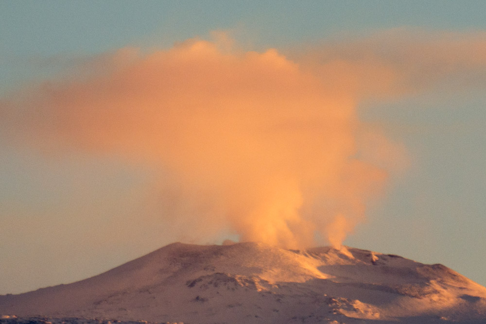 Phreatic eruption - Mount Erebus