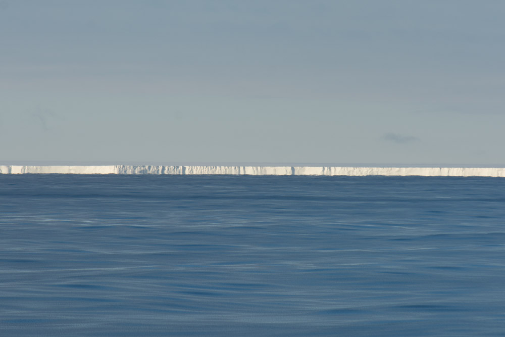 The Great Ice Barrier - The Ross Ice Shelf. It is the size of France. 350 miles long and goes back 200 miles