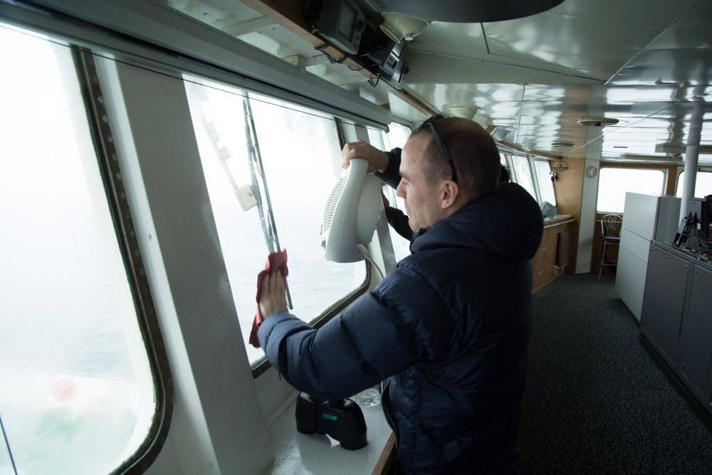 The windows were freezing on the inside -14C