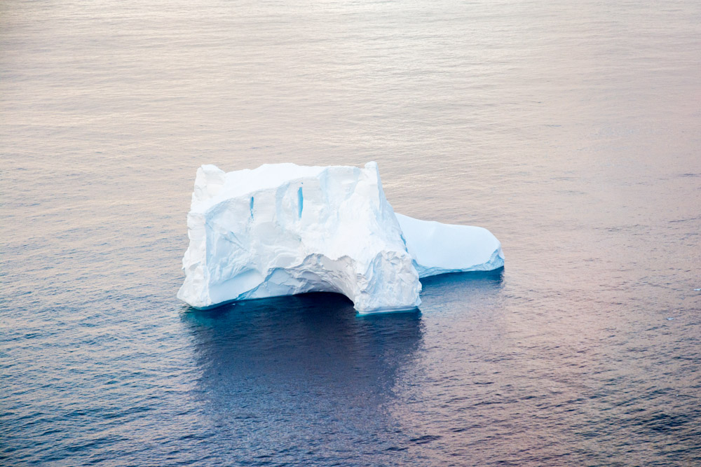 Iceberg from the helicopter at Peter 1 Island