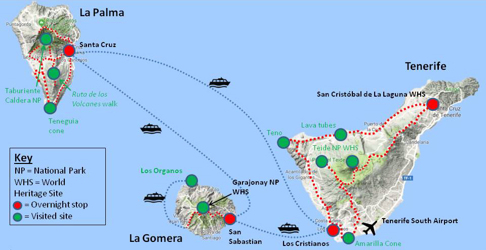 Canary Island5 Route map