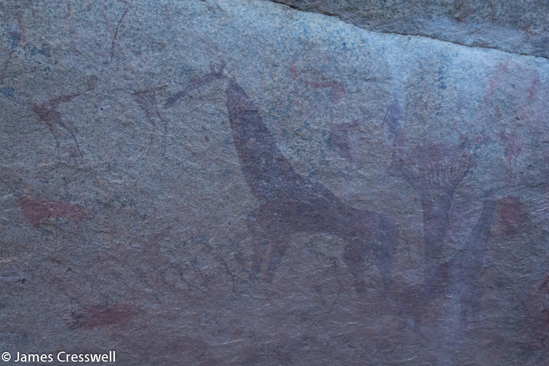 Prehistoric rock art, Erongo, Namibia