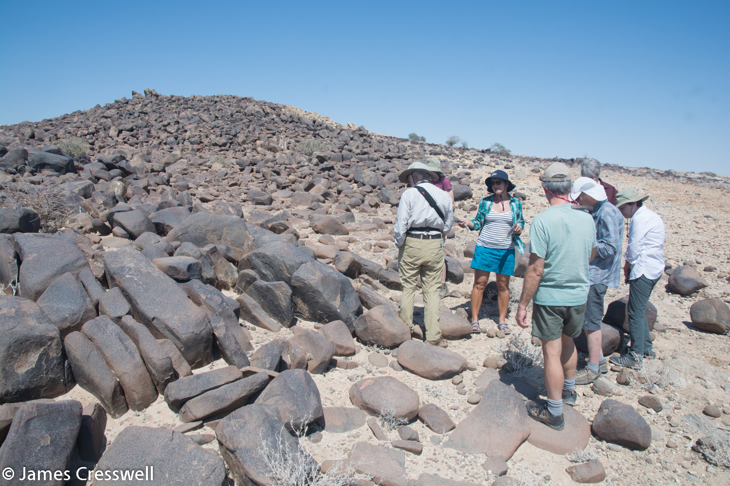 A large dolerite dyke emplaced as Gondwanaland began to split and the South Atlantic began to form, Namibia.