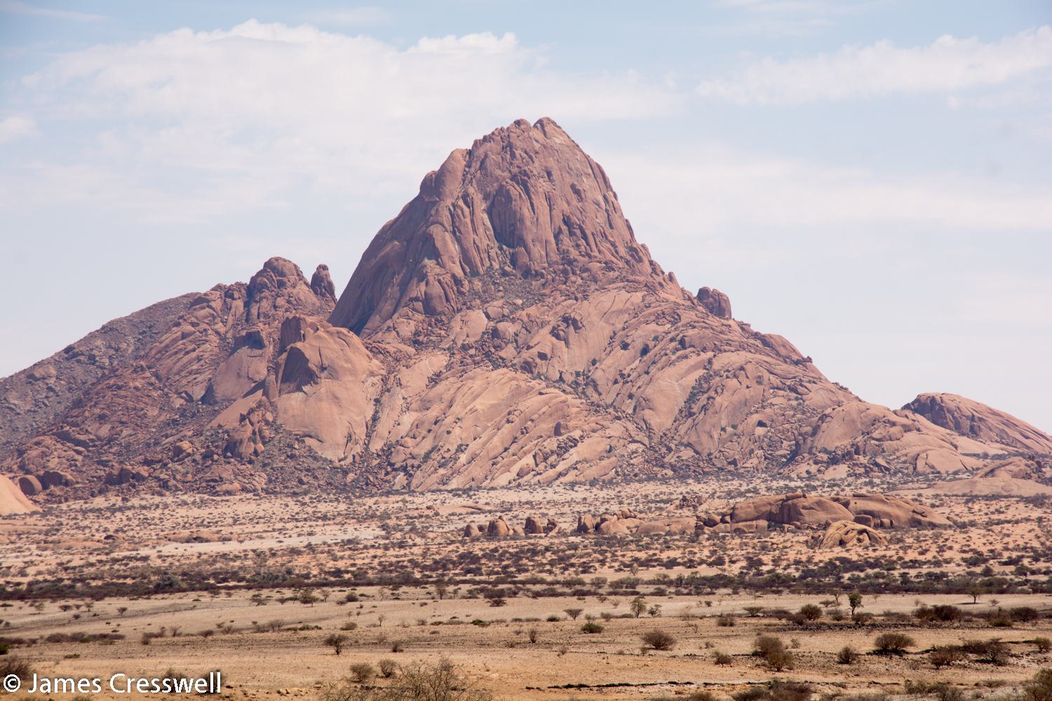 Spitzkoppe, Namibia - the mountain is a granite intrusion that was emplaced around 120 million years ago by the Tristan da Cunha Hotspot as the Gondwanaland was beginning to split.