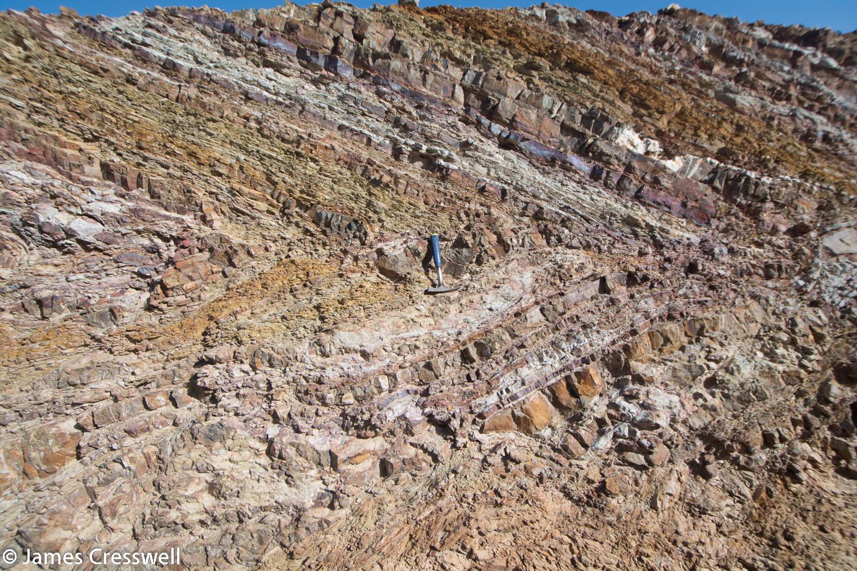 Fold in Hawasina sediments
