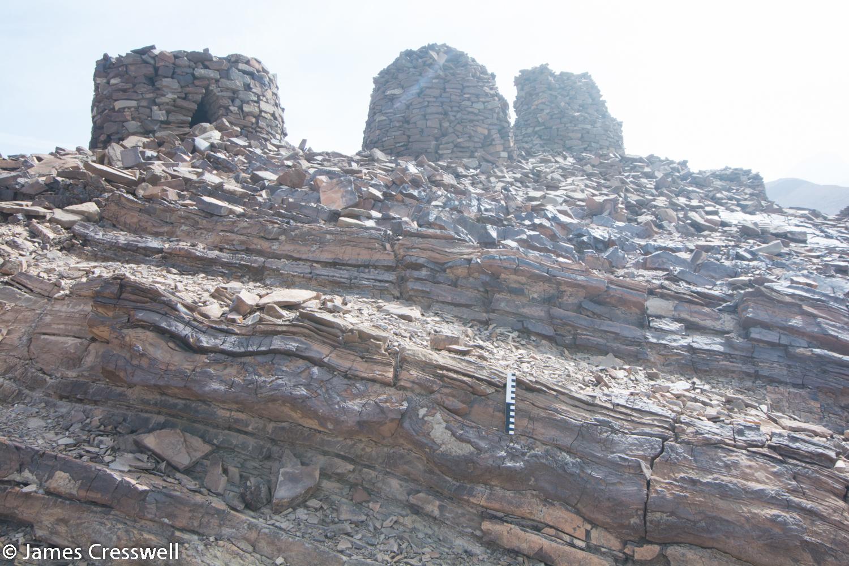 Hawasina turbidite sediments at the Al Ayn beehive tombs World Heritage site