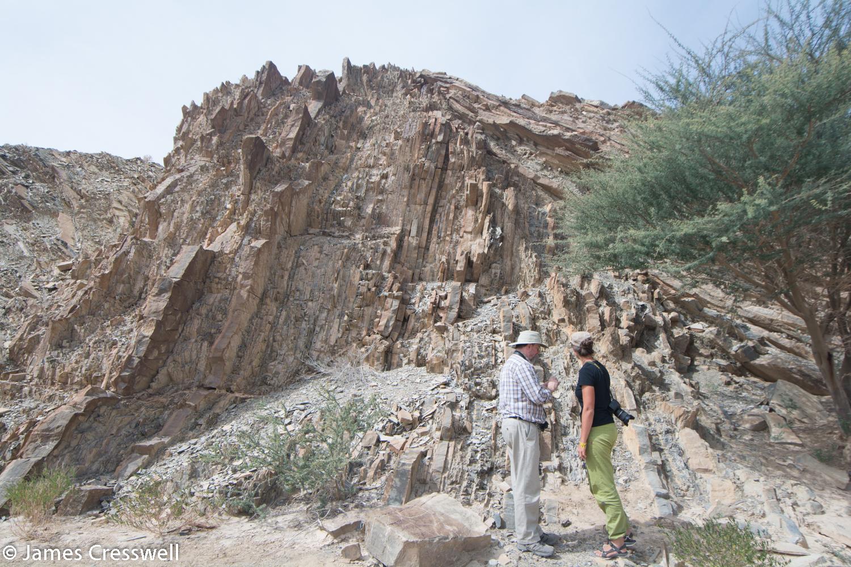 A large chevron fold in the Hawasina sediments.