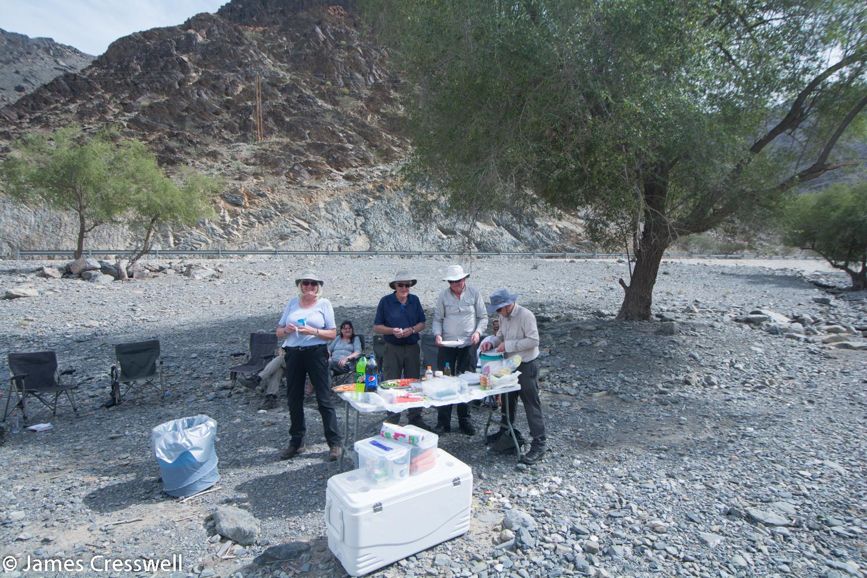 Picnic lunch at Wadi Haslan, Oman