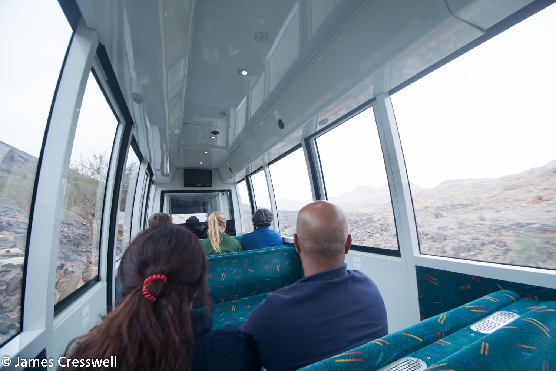 The train ride into Al Hoota cave