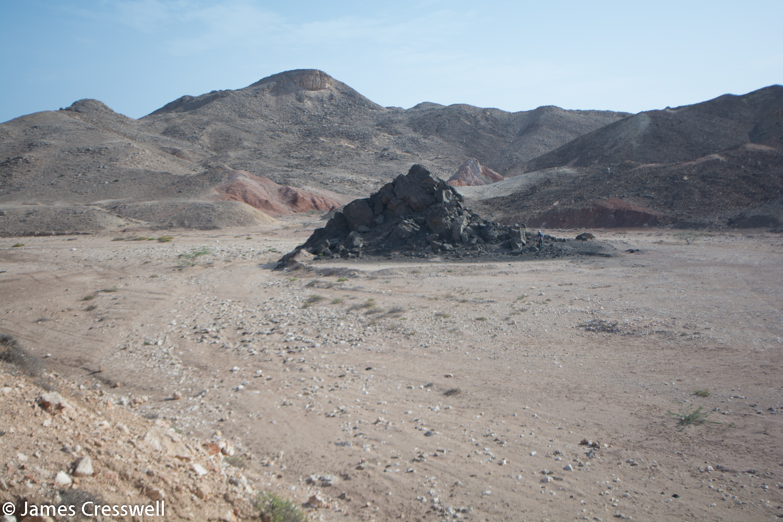 An outcrop of carbonatite lava