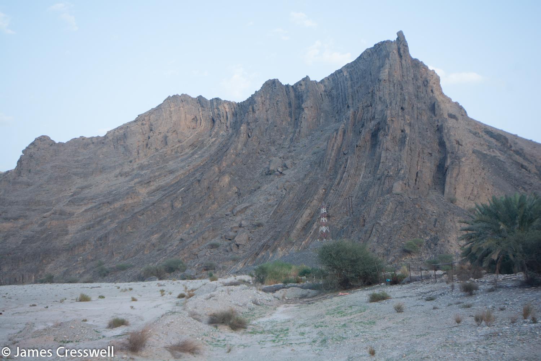 Large scale fold in Wadi Mayh