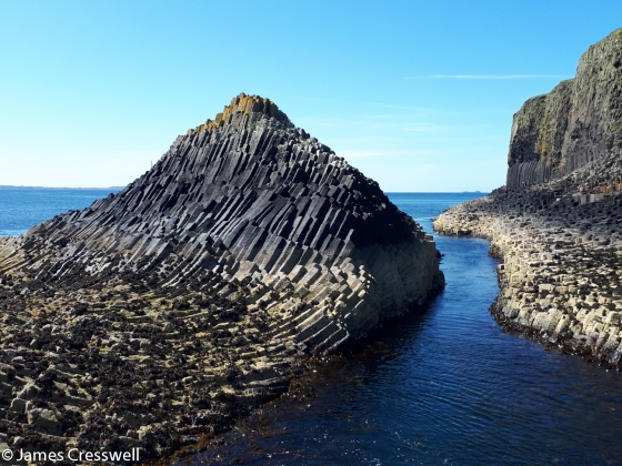 Columnar cooling structures on the island of Staffa