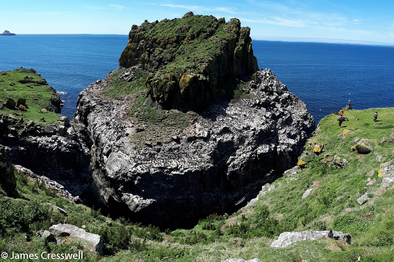 View of Harp Rock, Lunga