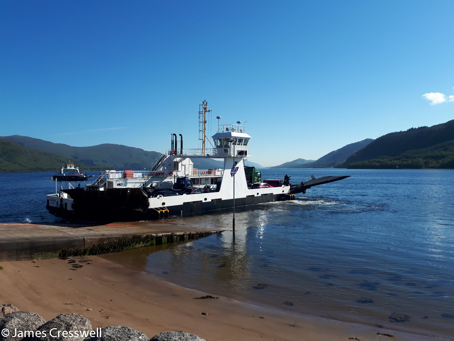 The Corran Narrows ferry crossing the Great Glen Fault in the Lochaber Geopark