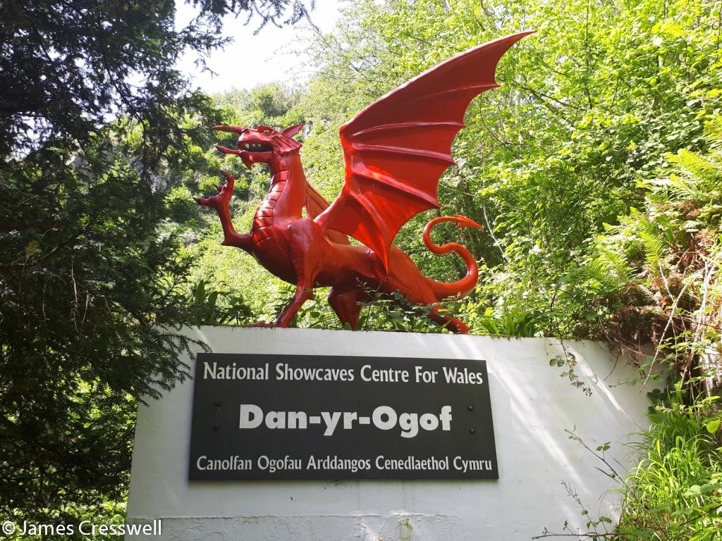 Dragon at entrance of the National Show Caves