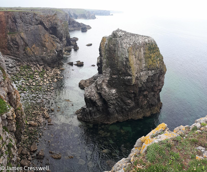 A sea stack