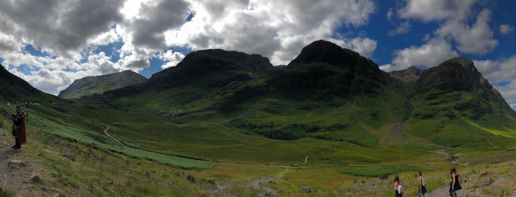 The Three Sisters of Glencoe their rock faces are made up of rhyolite lava flows and pyroclastic deposit