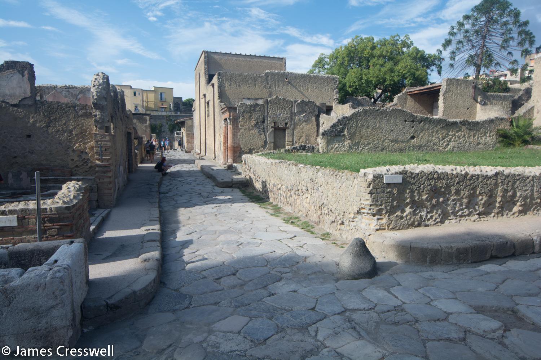 Herculaneum ancient street scene