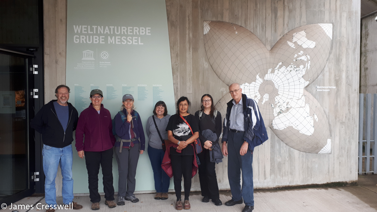 Group outside museum