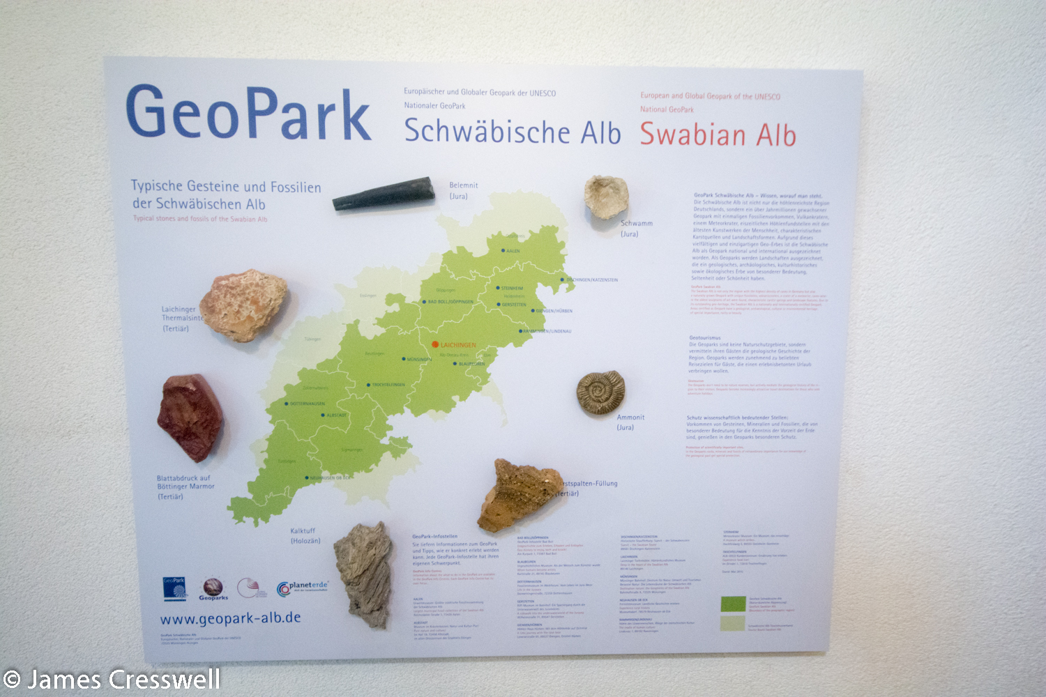 Map of a geopark