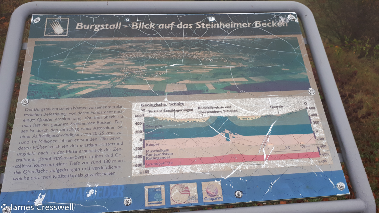 Information signboard with illustration