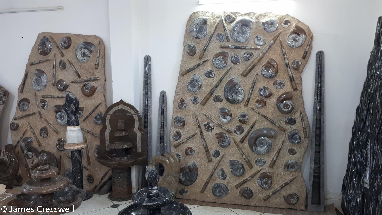 Large decorative rocks arranged for sale