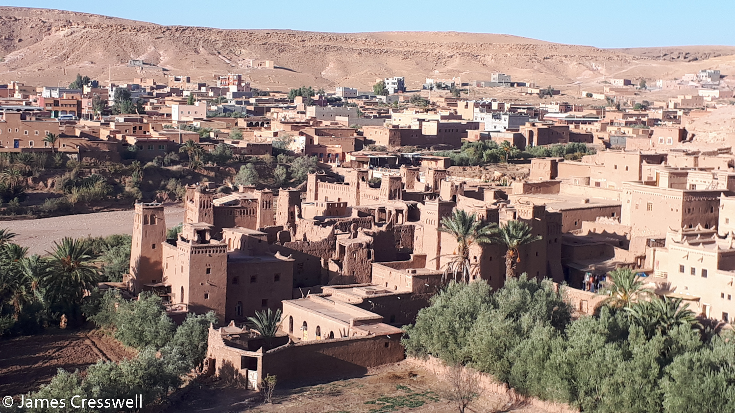 View of the World Heritage Site of Ait Ben Haddou