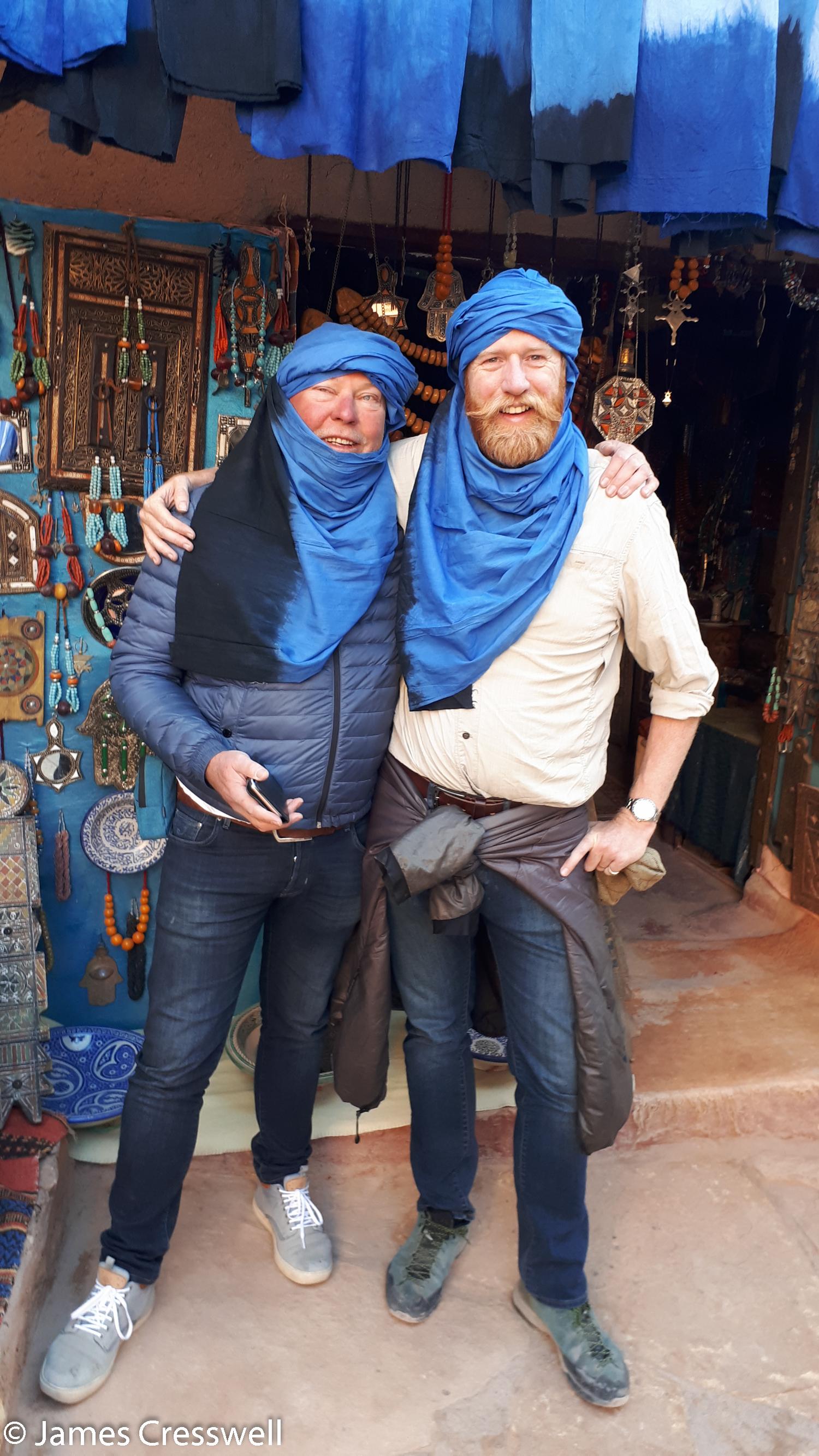 Men wearing traditional Moroccan headwear