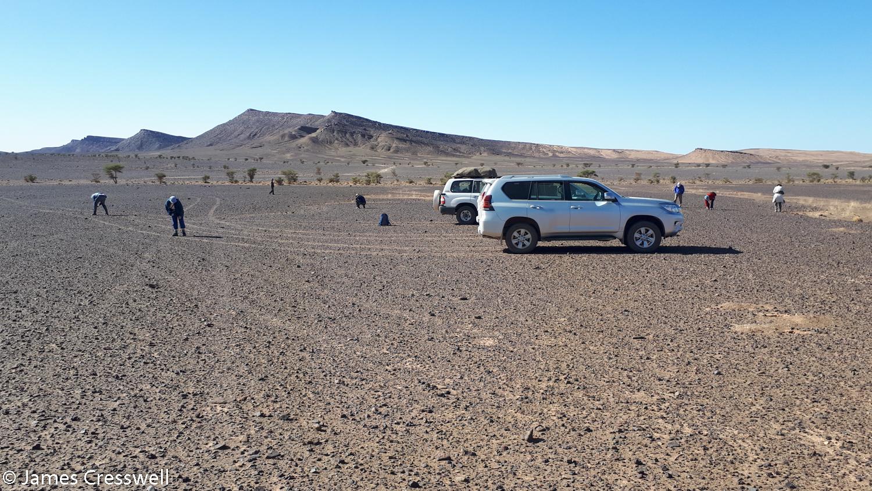 Vehicles in the desert