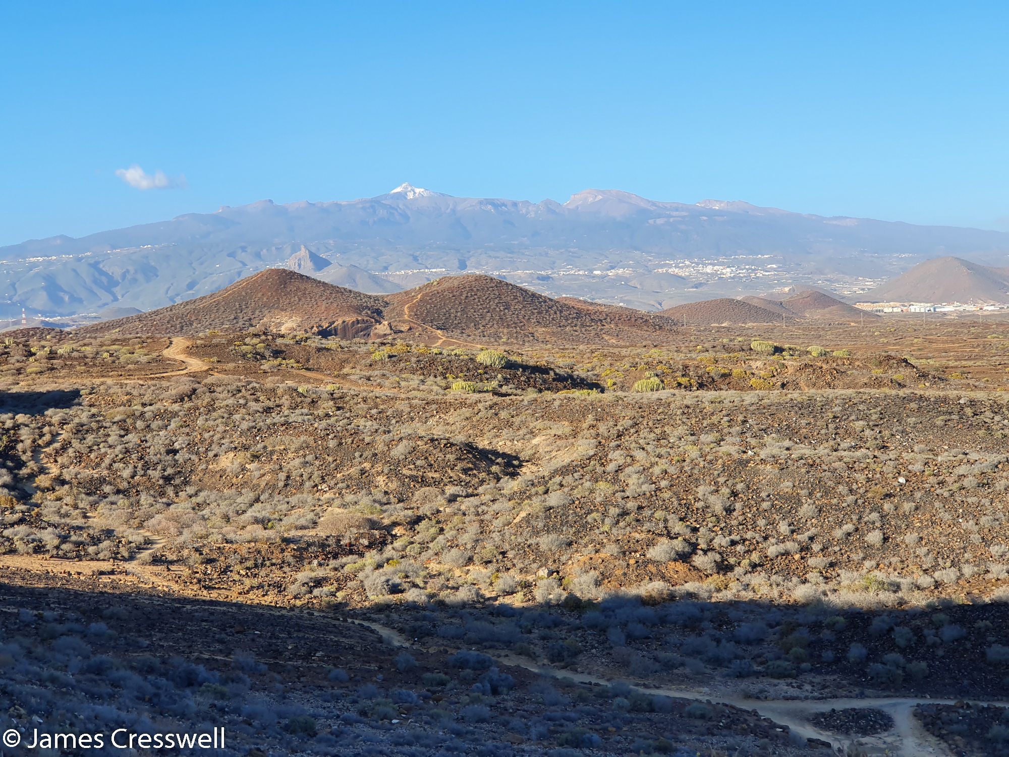 Landscape view with volcanic cones