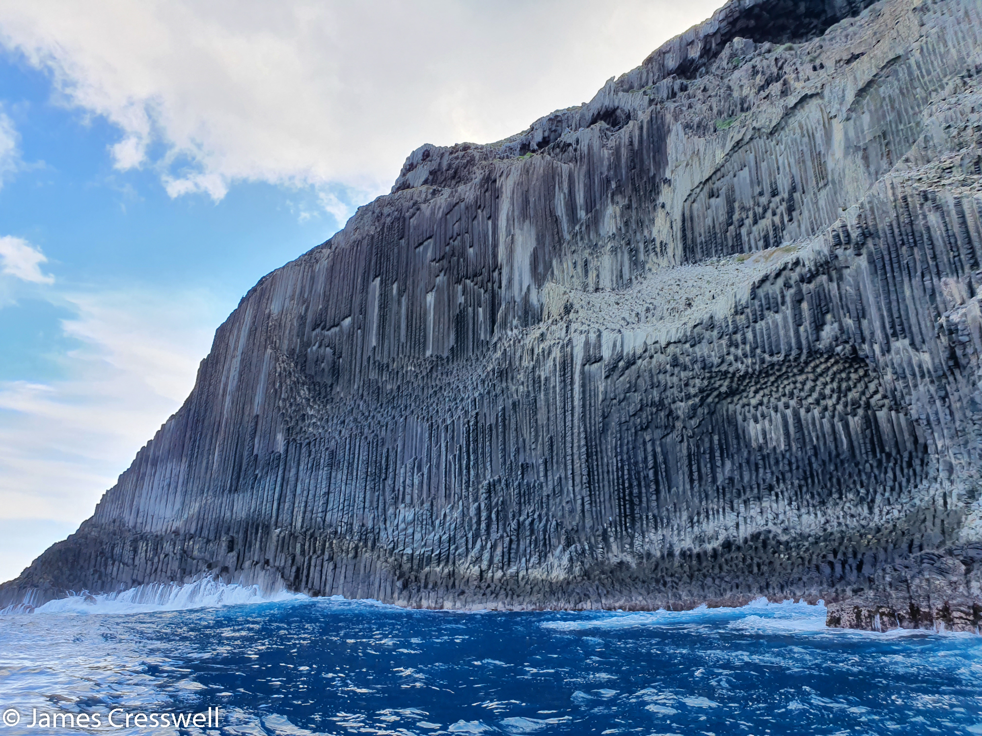 Sea cliffs with geological formation