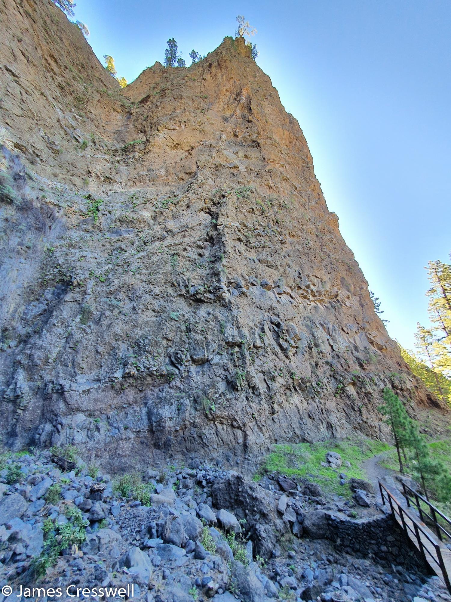 High rock face