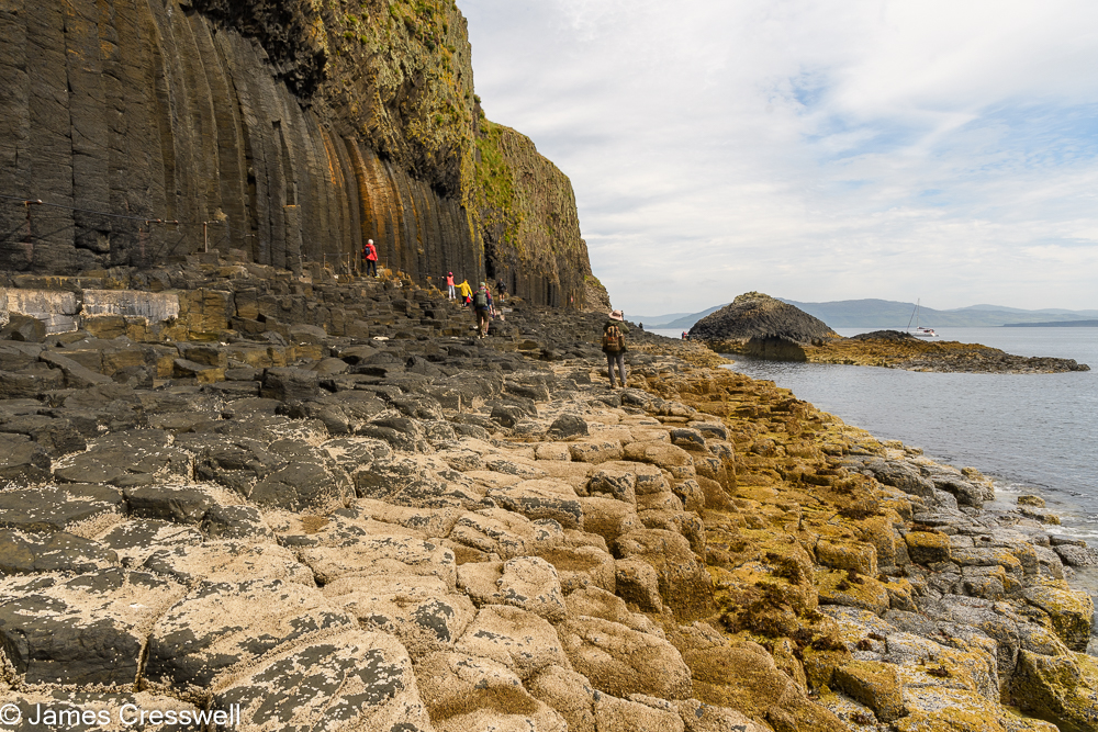A columnar basalt shoreline on the Isle of Staffa